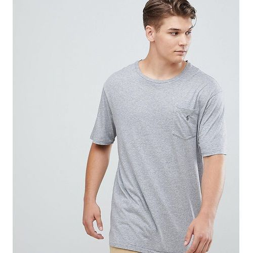 Polo Ralph Lauren Big & Tall pocket t-shirt polo player in grey heather - Blue, kolor niebieski
