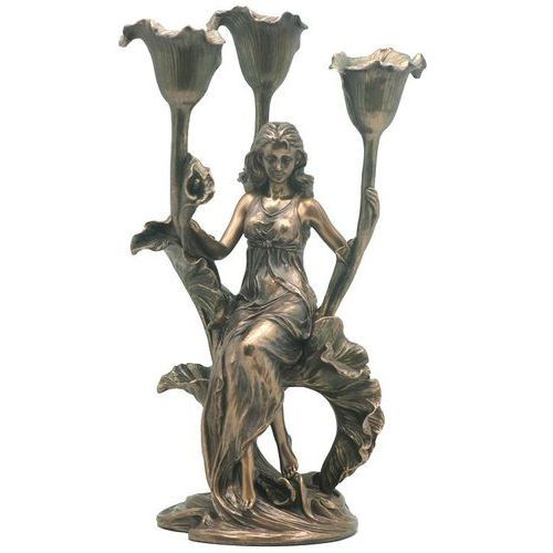 Veronese Świecznik z siedzącą kobietą na kali  (an10518a4)