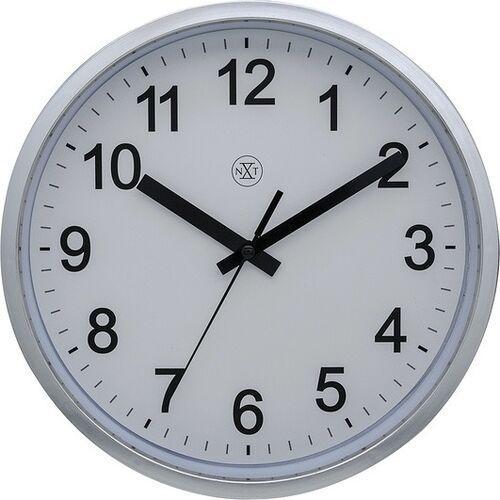 Zegar ścienny robust srebrny marki Nextime