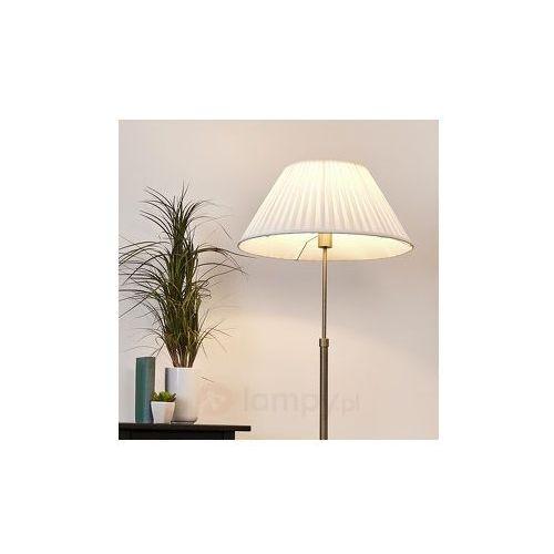 Leilan – lampa stojąca z abażurem, led e27 marki Lampenwelt