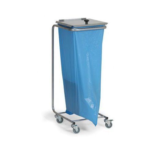 Mobilny stojak na worki na odpady z wiekiem marki B2b partner