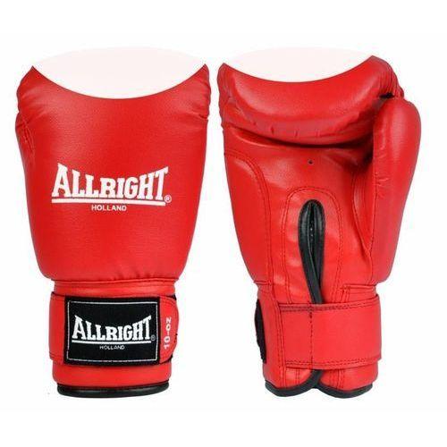 Allright Rękawice bokserskie pvc czerwono-białe  (2010000125823)