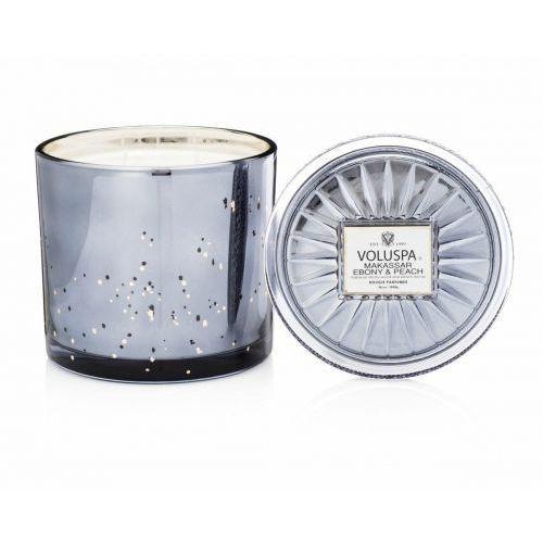 VOLUSPA świeca MAKASSAR EBONY PEACH 1020G GRANDE - wosk kokosowy, trzy knoty (5900000050140)