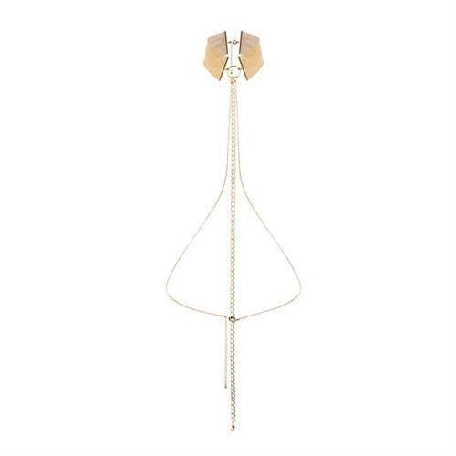Naszyjnik-obroża z łańcuchem Bijoux Indiscrets Magnifique (złoty), kup u jednego z partnerów