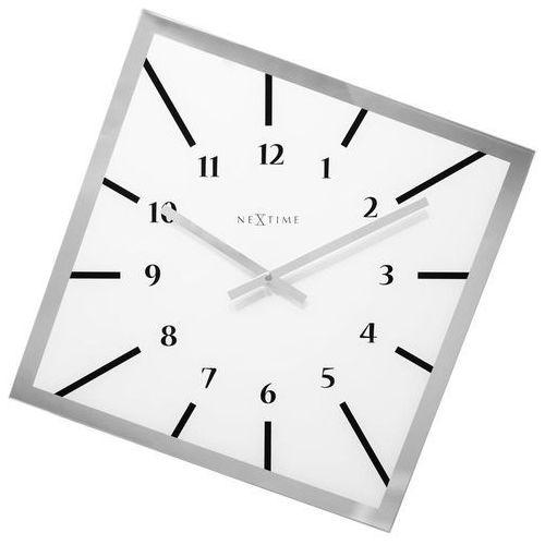 Nextime Zegar ścienny off balance biały