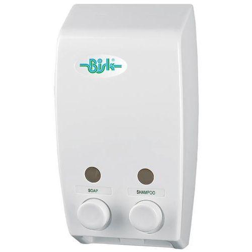Dozownik do mydła w płynie 2 x 0,4 litra Bisk plastik biały, 5901487001748