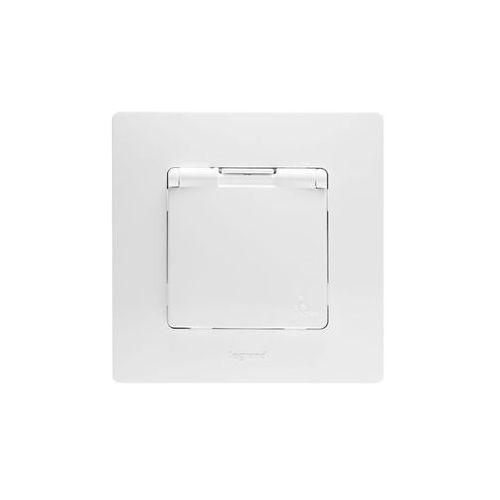 Gniazdko pojedyncze niloe z uziemieniem ip44 komplet białe marki Legrand