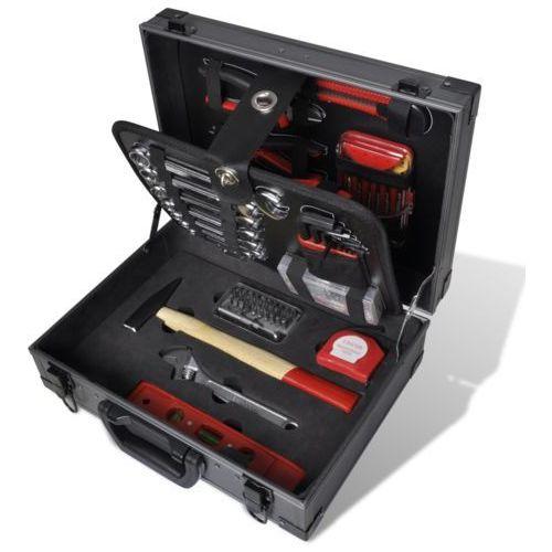 vidaXL 226 częściowy zestaw narzędzi w aluminiowej walizce