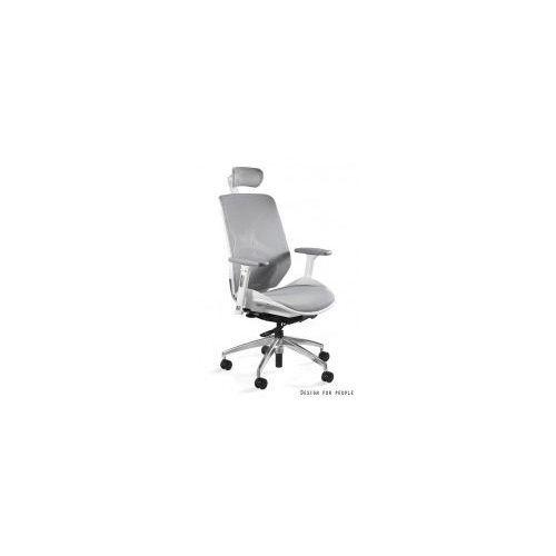 Krzesło biurowe Hero szaro- białe siatka, kolor biały
