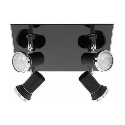 tamara 1 33678 plafon lampa sufitowa 4x3,3w gu10-led czarny/chrom marki Eglo