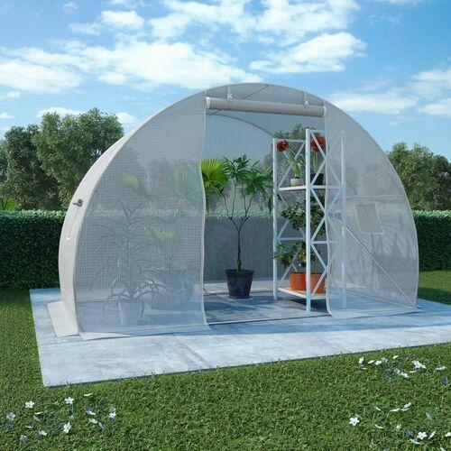 VidaXL Szklarnia ogrodowa, stalowa konstrukcja, 4,5 m², 300x150x200 cm
