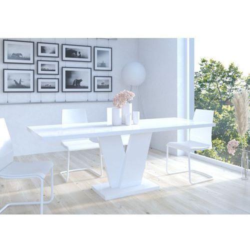 Stół Niko II 130-210 Biały wysoki połysk