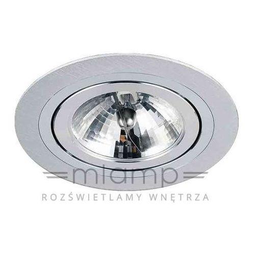 Orlicki design Oczko lampa sufitowa puro alluminio metalowa oprawa podtynkowa wpust okrągły aluminium