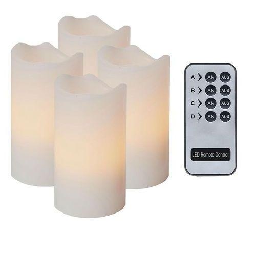 LED CANDLE-4 Świeczki LED Wys.10cm + Pilot, 067-11