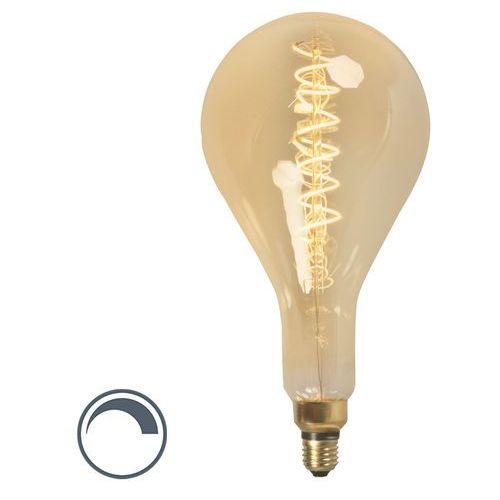Żarówka LED ze spiralnym żarnikiem filamentl MEGA bańka E27 240V 4W ściemnialna