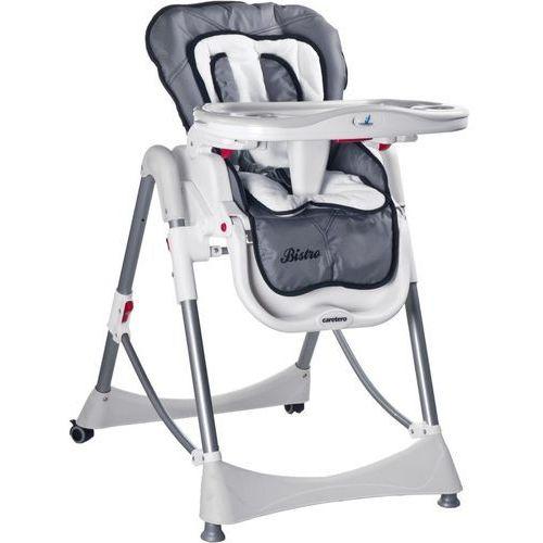 Krzesełko do karmienia CARETERO Bistro szary + DARMOWY TRANSPORT! (5902021521203)