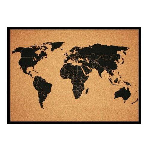 Tablica korkowa Mapa świata 50 x 70 cm