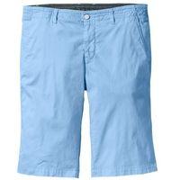 Bermudy chino ze stretchem Regular Fit bonprix jasnoniebieski, kolor niebieski