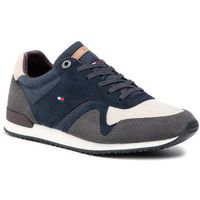 Sneakersy TOMMY HILFIGER - Iconic Material Mix Runner FM0FM02407 Midnight 403