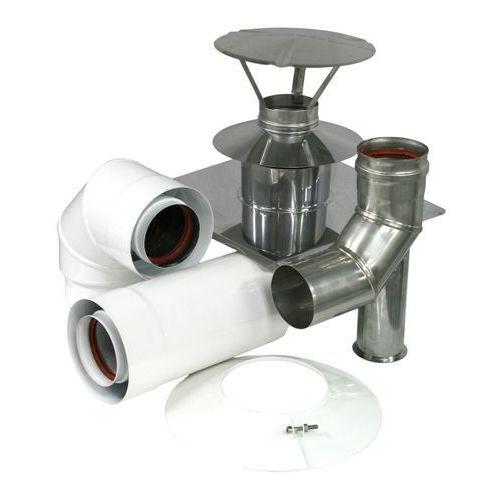 Zestaw przyłączeniowy do szachtu kominowego Spiroflex 60/100 mm biały (5907520986621)