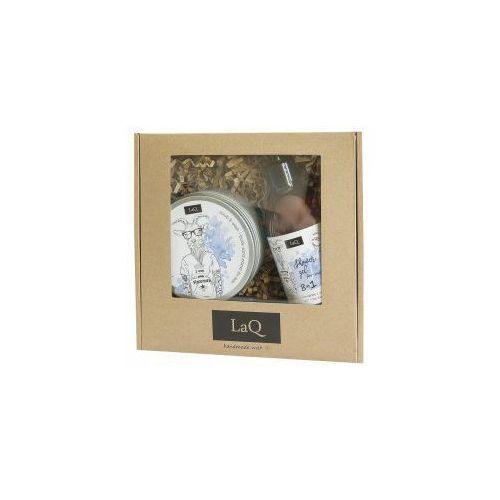 Laq , zestaw prezentowy męski - peeling i żel