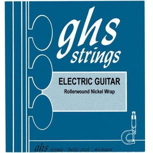 Ghs nickel rockers struny do gitary elektrycznej, medium light,.012-.054, rollerwound, wound g-string