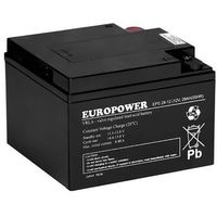 Akumulator 12V 28 Ah AGM EPS żywotność 10-12 lat Europower, EPS 28-12 M5