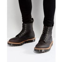 made in england pascal 8 eye ripple toothed sole boots - black, Dr martens