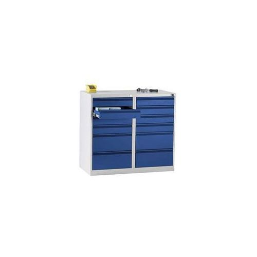 Szafka szufladowa, stal, wys. x szer. x głęb. 900x1000x500 mm, 12 szuflad, kolor marki Quipo