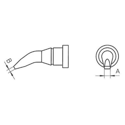 Weller Grot lutowniczy  lt-ax, 00544 427 99 kształt okrągły, zgięty, 1.6 mm, 1 szt.
