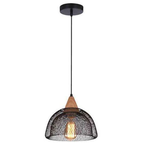 Wisząca LAMPA vintage BRIKS 31-43320 Candellux metalowa OPRAWA zwis siatka kopuła czarna, kolor Czarny