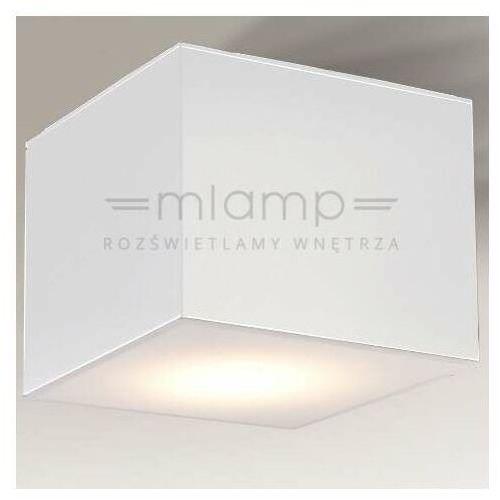 Lampa sufitowa zama 7057 metalowa oprawa natynkowa led 15w 3000k kostka cube biała marki Shilo