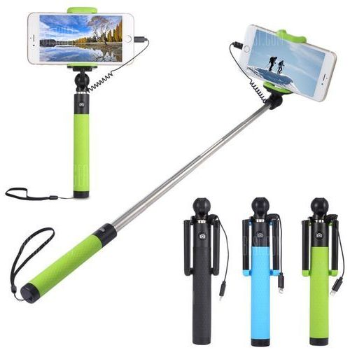 Gearbest Collapsible selfie stick monopod camera shutter for iphone