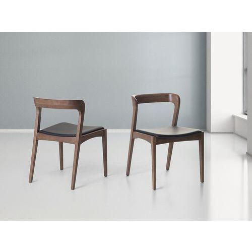 Krzesło brązowe - do jadalni - do kuchni - drewniane - astoria marki Beliani