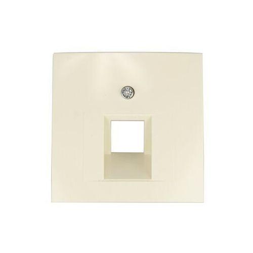 Berker/B.Kwadrat Element centralny gniazda przyłączeniowego 1xUAE kremowy 5314078982 HAGER POLO