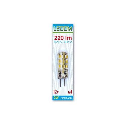 Żarówka LED 24 SMD3014 G4 12V DC 2W silikon biała ciepła z kategorii żarówki led