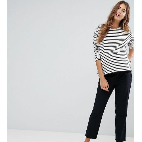 Asos design maternity chino trousers with under the bump waistband - navy marki Asos maternity