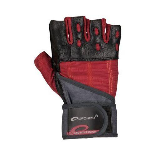 Rękawice SPOKEY fitness Szaro-zarno-bordowy rozmiar M (5901180382908)