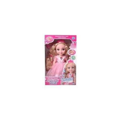 Lalka natalia księżniczka ze świecącymi włosami jasny róż marki Artyk