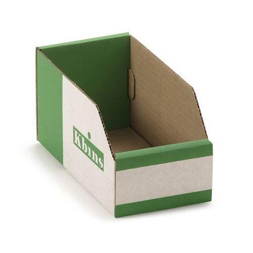 Skrzynki regałowe z kartonu, składane, opak. 50 szt., dł. x szer. x wys. 200x100 marki K bins limited