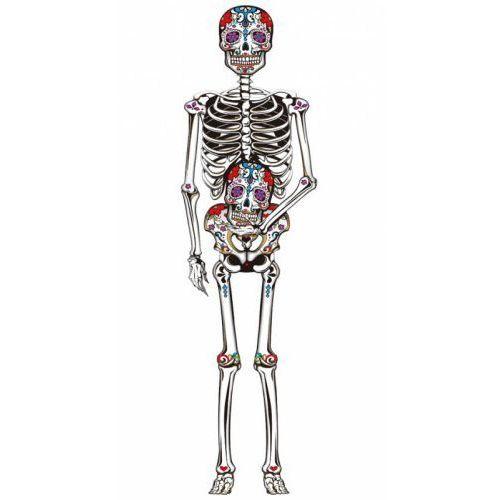 Gu Dekoracja na ścianę meksykański szkielet - 150 cm - 1 szt. (8434077261040)