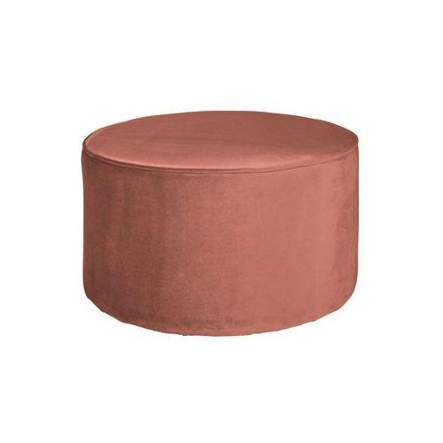 Woood Pufa Sara okrągła niższa velvet postarzany różowy 350410-31, 350410-31