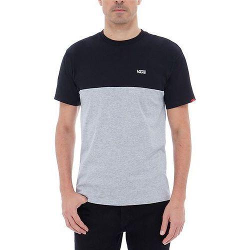 Vans Koszulka - colorblock tee black-athletic heather (jgp) rozmiar: s