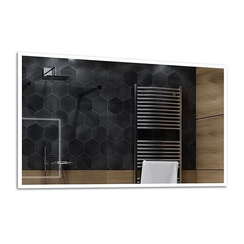 Lustro łazienkowe z podświetleniem led - 140x70cm - boston marki Alasta