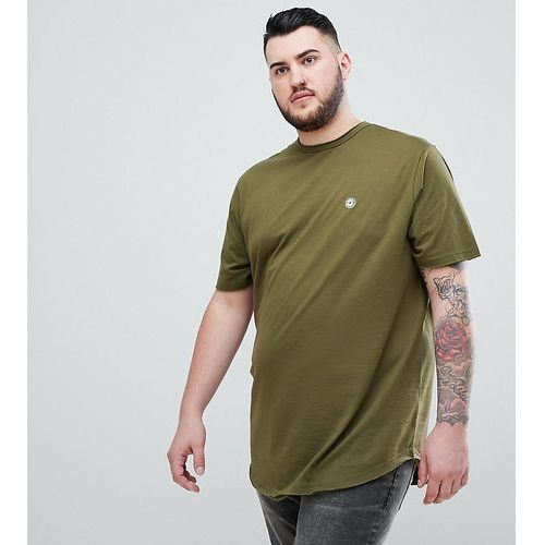 Le breve plus raw edge longline t-shirt - green