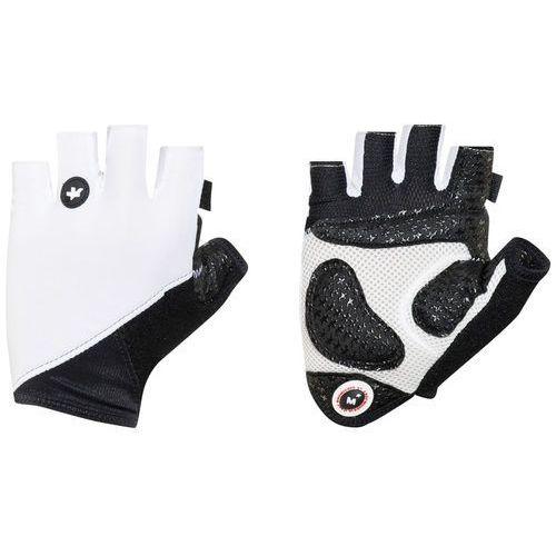 summergloves_s7 rękawiczka rowerowa biały/czarny m 2018 rękawiczki szosowe marki Assos