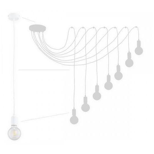 Lemir Maris O2757 W7 BIA lampa wisząca zwis pająk 7x60W E27 biały mat