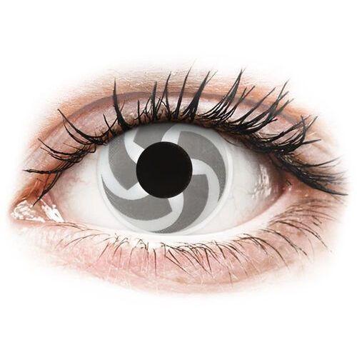 Maxvue vision Soczewki kolorowe białe blade crazy lens 2 szt. (9555644811082)