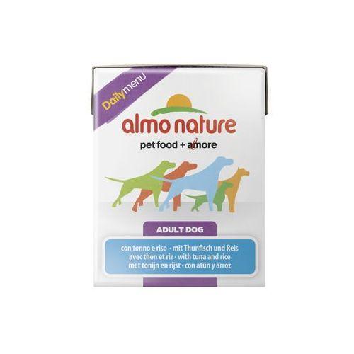 Almo nature  daily menu dog tuńczyk z ryżem - tetra pak 12x375g
