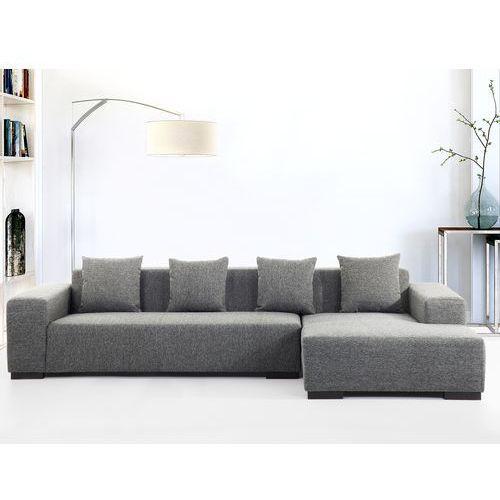 Sofa ciemnoszara - sofa narożna l - tapicerowana - lungo marki Beliani